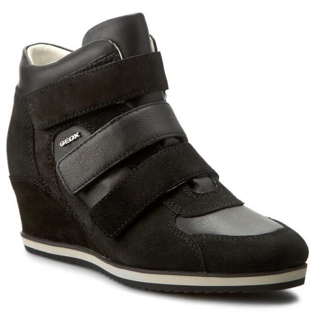 Sneakers D GEOX - D Illusion D Sneakers D7254D 02285 C9999 Black - Sneakers - Low shoes - Women's shoes f408dc