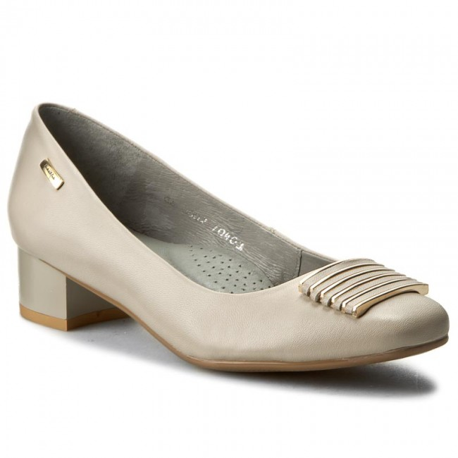 Shoes Low MACIEJKA - 03002-10/00-1 Ciemny Beż - Heels - Low Shoes shoes - Women's shoes ffe118