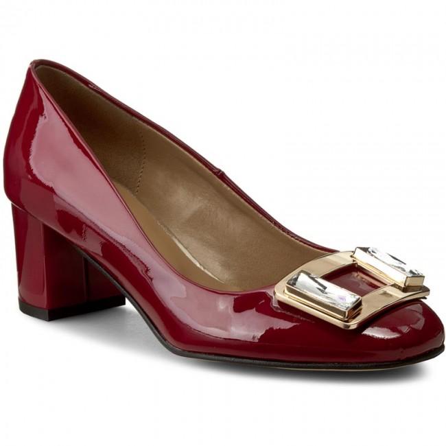 Shoes Low SAGAN - 2858 Bordo Lak.Zło - Heels - Low Shoes shoes - Women's shoes cc01fc