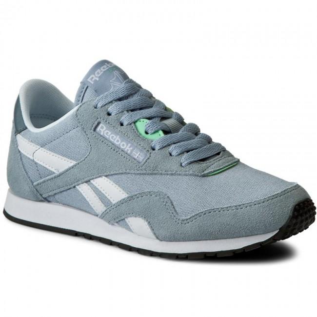 online retailer 45627 c1824 Shoes Reebok - Cl Cl Cl Nylon Slim Hv BD1784 Grey Stonewash White Mint -  Sneakers - Low shoes - Women s shoes b6ffec