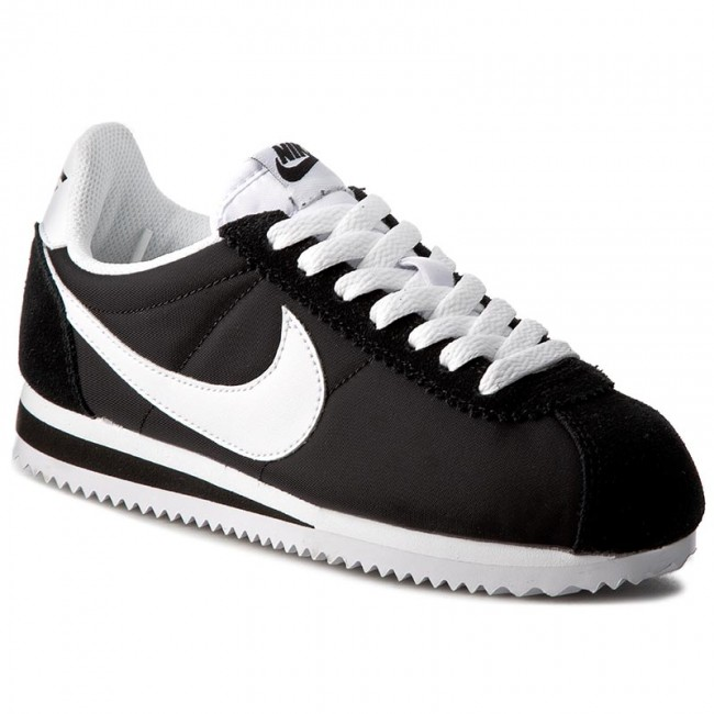 Shoes NIKE - Classic Cortez Nylon 749864 011 Black/White shoes - Sneakers - Low shoes Black/White - Women's shoes 56a6f5