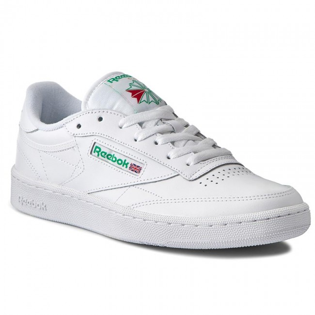 Shoes Reebok - Club C 85 AR0456 White/Green - Sneakers Women's - Low shoes - Women's Sneakers shoes cd1827
