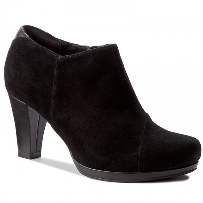 Shoes CLARKS - Chorus Jingle 261278484 Black Suede - Heels Women's - Low shoes - Women's Heels shoes e1a6e9
