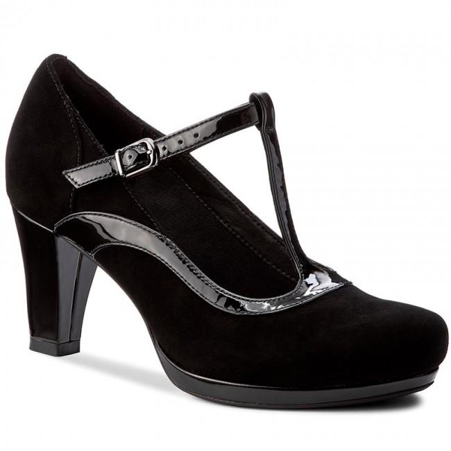 Nouvelles étagères——261290904 chaussures clarks clarks chaussures - chorale Écho Noir  combi - talons - bas chaussures chaussures - femmes 37aa62