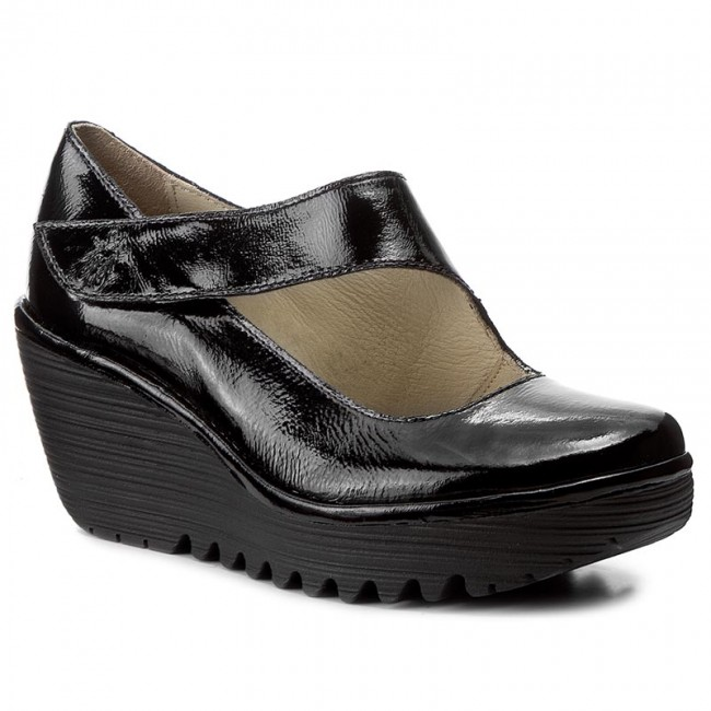Shoes FLY LONDON - Yasifly P500682020 Black - Wedge-heeled Wedge-heeled Wedge-heeled shoes - Low shoes - Women's shoes de13a7
