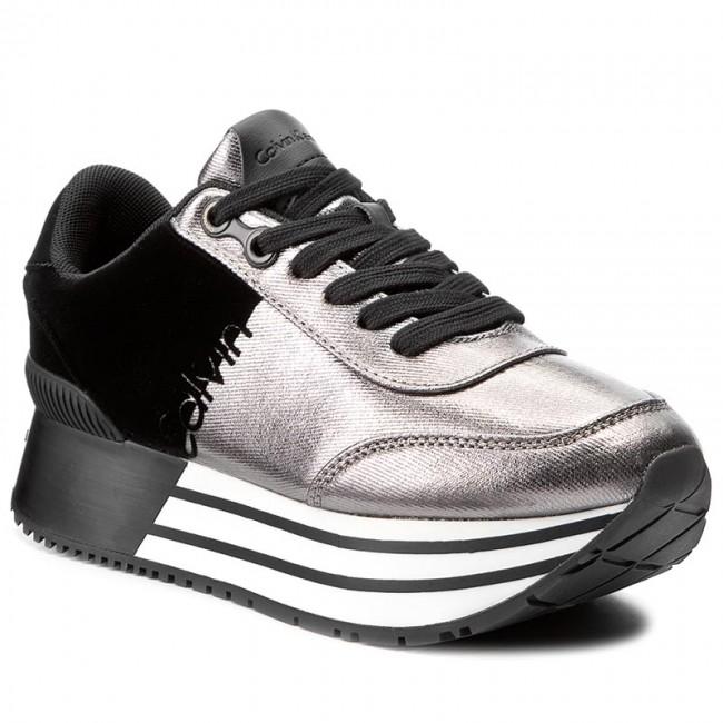 Sneakers CALVIN KLEIN JEANS - Carlita R0689  Pewter/Black - - Sneakers - Low shoes - - Women's shoes 410ec2
