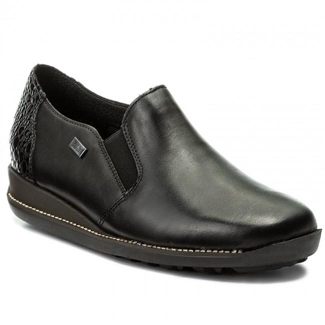 686129dbb Shoes RIEKER RIEKER RIEKER - 44264-00 Black - Wedge-heeled shoes - Low shoes  - Women s shoes 3fd7df