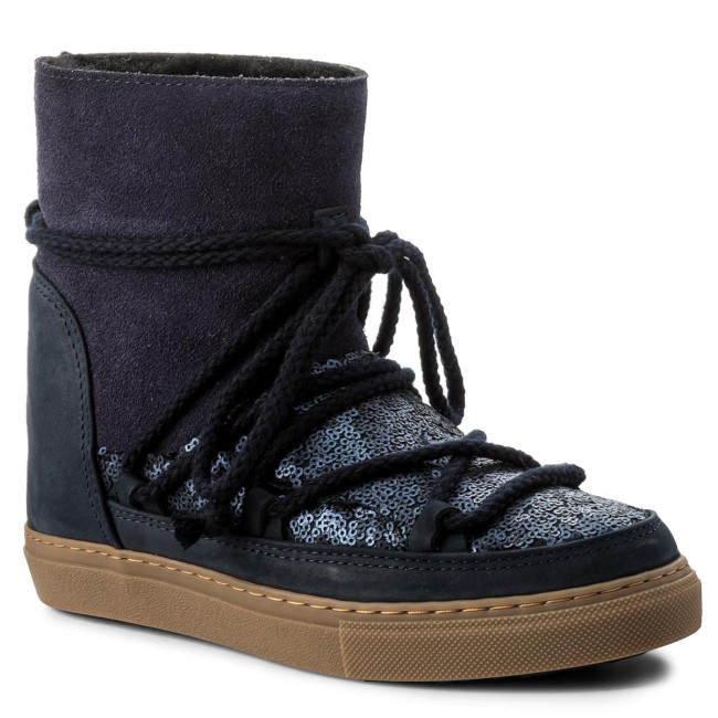 Shoes INUIKII - Sneaker Blue Wedge Sequin 30110  Blue Sneaker - Winter boots - High boots and others - Women's shoes ecb34f