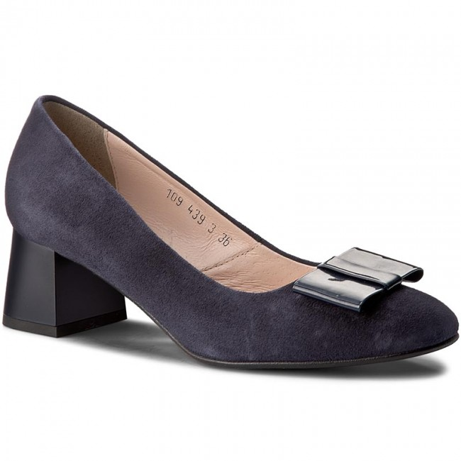 Shoes OLEKSY - - 439/435/110 Navy Blue - OLEKSY Heels - Low shoes - Women's shoes 3c9209
