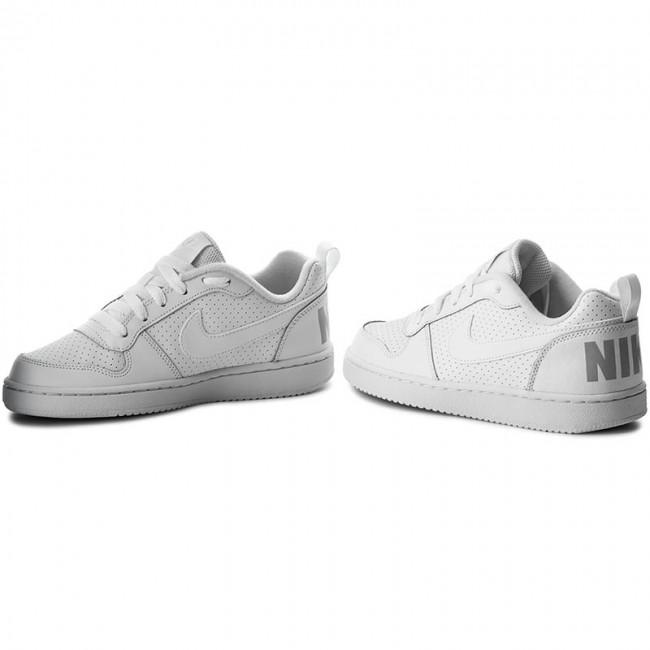 Shoes NIKE - Court Borough Low Low Low (GS) 839985 100 White/White/White - Sneakers - Low shoes - Women's shoes 910da3