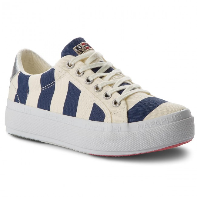 Sneakers NAPAPIJRI - Astrid 16738577 Striped Blue N697 - Sneakers Women's - Low shoes - Women's Sneakers shoes d5a400