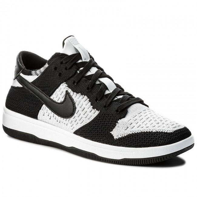 official photos c76d4 2bc9b ... chaussures nike 917746 - dunk flyknit 917746 nike 100 blanc noir loup  gris - tennis ...