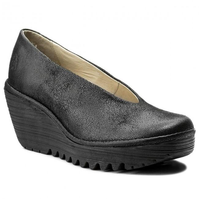 Shoes FLY LONDON - Yaz P500025218 Black - Wedge-heeled - shoes - Low shoes - Wedge-heeled Women's shoes cf8187