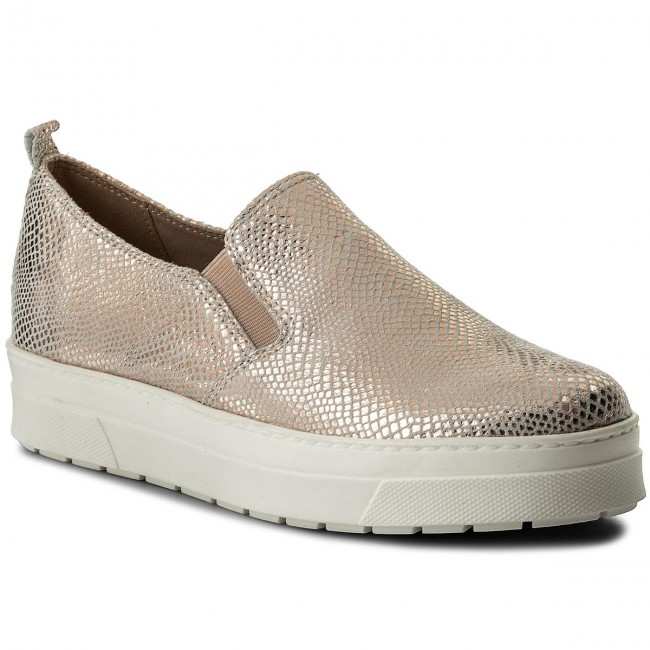 Shoes CAPRICE - 9-24651-20 Rosegold Repti 569 - Wedge-heeled shoes Women's - Low shoes - Women's shoes shoes 6aedbb