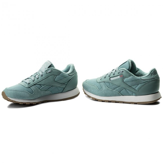 Shoes Reebok - Cl Leather Estl BS9724 Whisper Teal/White - - - Sneakers - Low shoes - Women's shoes fce003