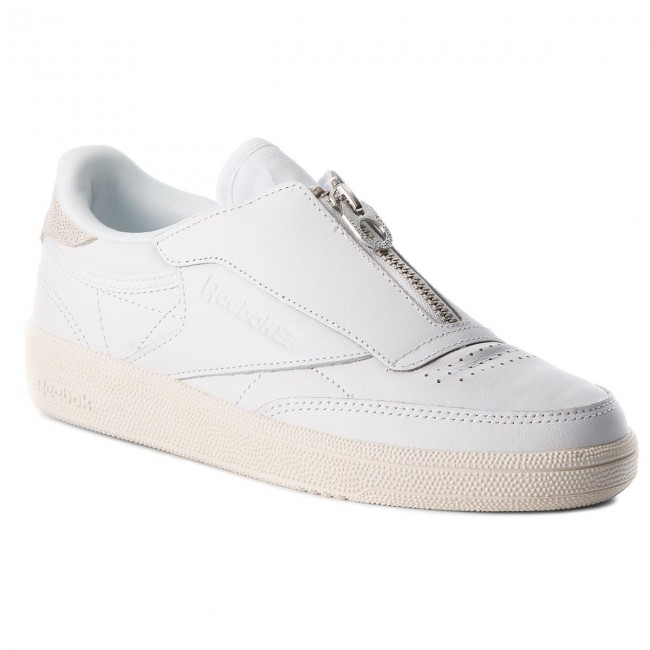 Shoes Reebok - Club C 858 Zip M CN0139  Low White/Chalk - Sneakers - Low  shoes - Women's shoes efd6f8