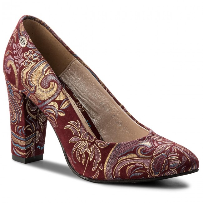 Shoes Bordo BALDACCINI - 640600-Ł Mozaika Bordo Shoes - Heels - Low shoes - Women's shoes ac884a