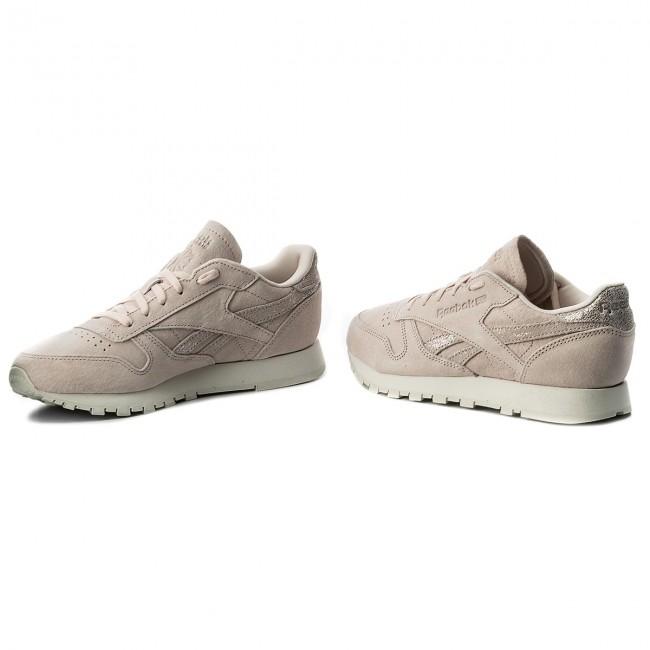 Shoes Reebok Reebok Reebok - Cl Lthr Shimmer BS9865  Pale Skin/Silver/Chalk - Sneakers - Low shoes - Women's shoes 67df87