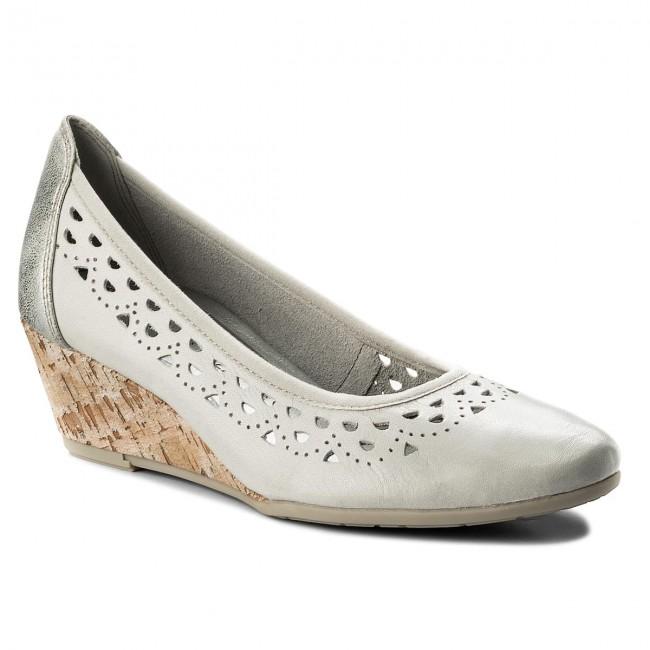 Shoes MARCO TOZZI - 2-22500-20 Quartz Comb 256 - Wedge-heeled - shoes - Low shoes - Wedge-heeled Women's shoes 75ad3b