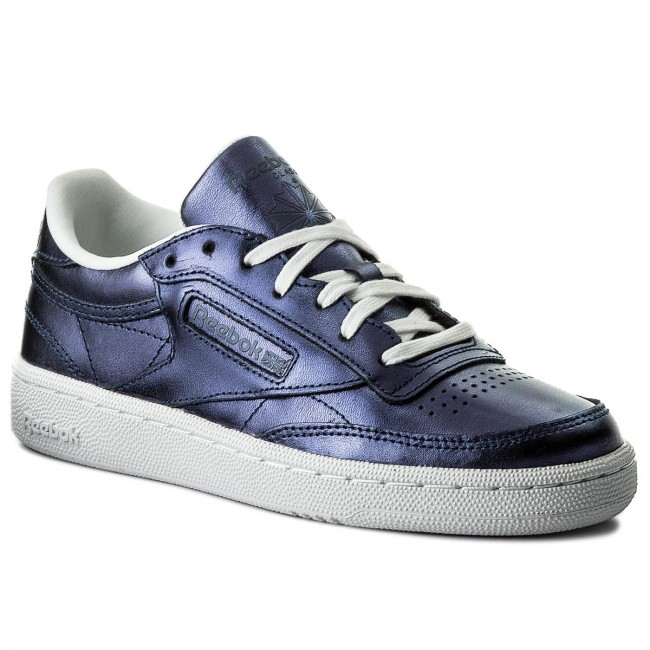 Shoes Reebok S - Club C 85 S Reebok Shine CM8687 Royal Dark Blue/White - Sneakers - Low shoes - Women's shoes 454b7d