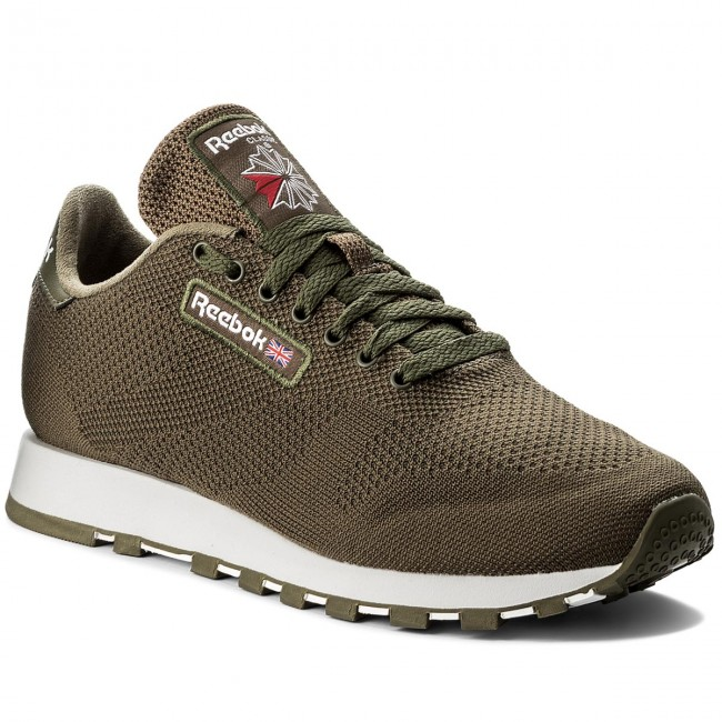 Shoes Reebok - Army Cl Leather Ultk CM9878 Army - Green/White - Sneakers - Low shoes - Women's shoes 9f4201