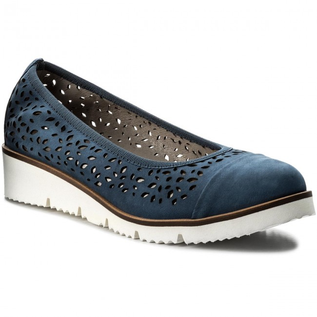 Shoes Low EDEO - 3197L-764 Niebieski - Wedge-heeled shoes - Low Shoes shoes - Women's shoes 993aaf