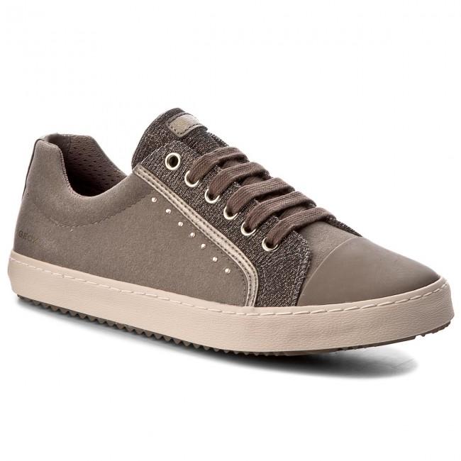 sports shoes f74a0 315ff Shoes GEOX - J J J Kalispera G.J J744GJ 0AFEW C5005 D Dk Beige - Flats -  Low shoes - Women s shoes 0a0a29