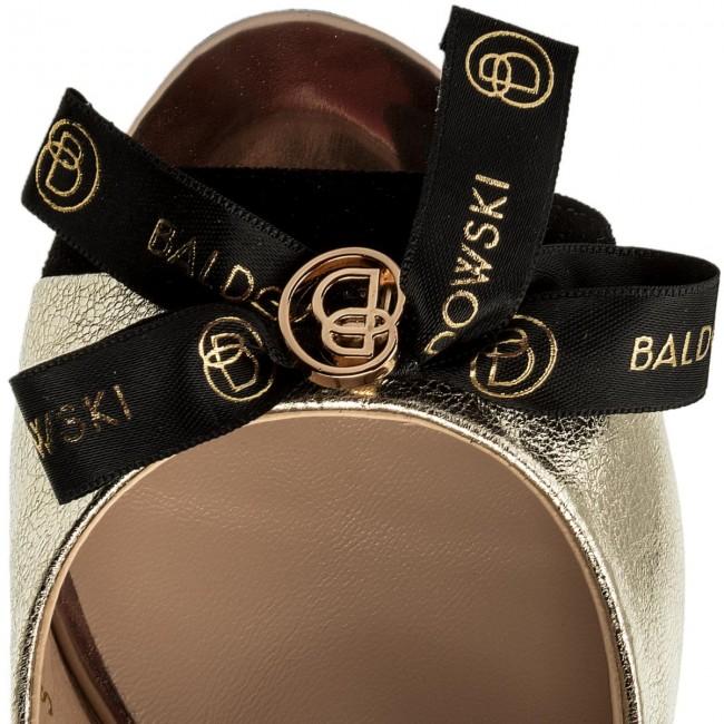 Shoes BALDOWSKI BALDOWSKI BALDOWSKI - W00321-1529-001 Zamsz Czarny/Skóra Złota - Heels - Low shoes - Women's shoes ea1f02
