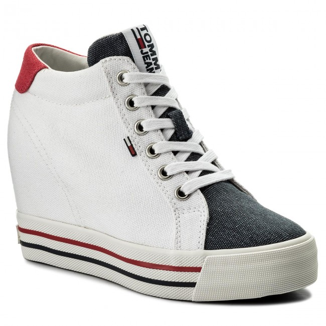 Sneakers TOMMY JEANS - Sneaker Wedge EN0EN00192 Rwb 020 shoes - Sneakers - Low shoes 020 - Women's shoes 25512d