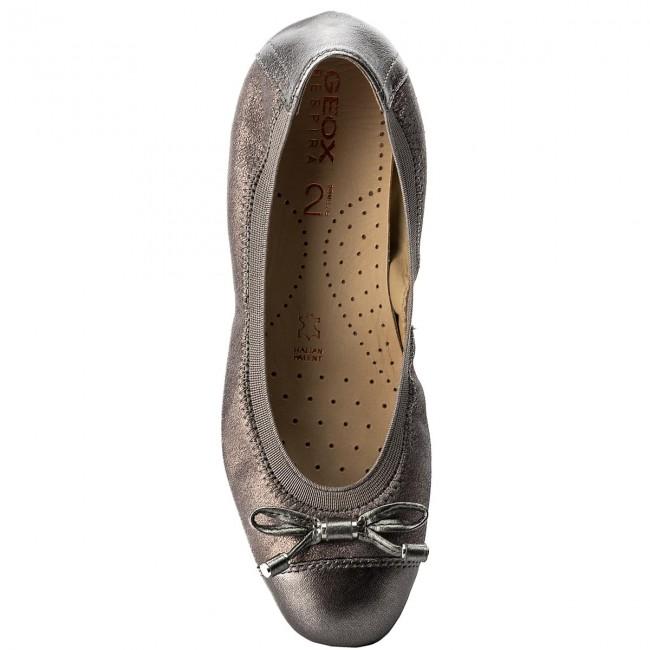 apparteHommes ts geox - d lola 2fit c d643dc d643dc d643dc 0maky c9f1g dk Gris  / arme - les chaussures de ballerine - bas chaussures chaussures - femmes b35f85