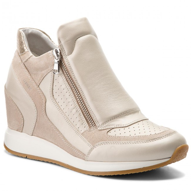 Sneakers GEOX - D C2UH6 Nydame A D620QA 04422 C2UH6 D Platinum/Lt Taupe - Sneakers - Low shoes - Women's shoes 904978