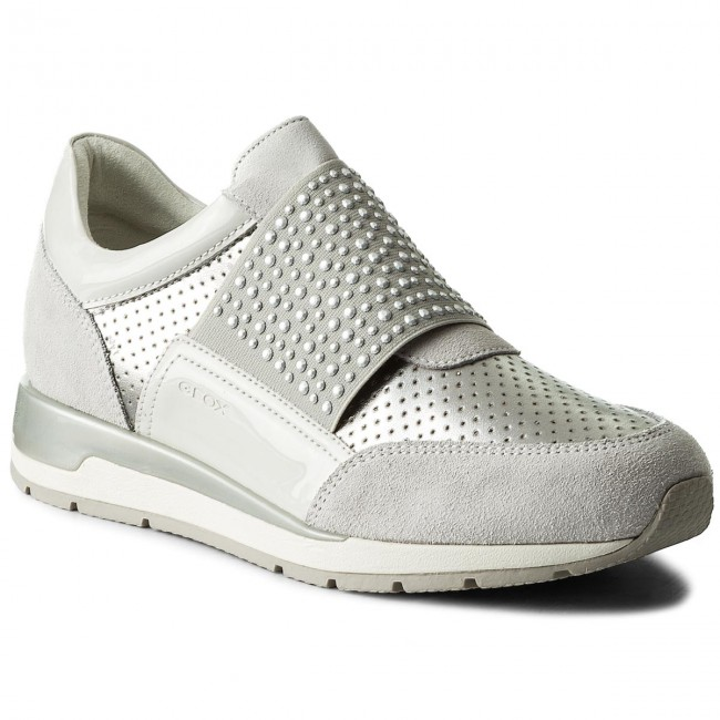 Sneakers GEOX - D Shahira A D82N1A 022NF C0626 Off Low White/Silver - Sneakers - Low Off shoes - Women's shoes bbda44
