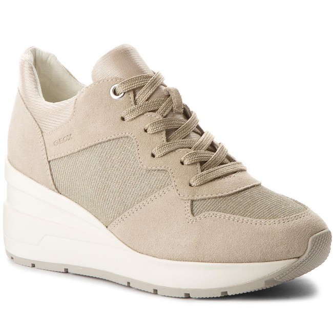 Sneakers GEOX D828LC - D Zosma C D828LC GEOX 022EW C6738 Lt Taupe - Sneakers - Low shoes - Women's shoes 35c7af