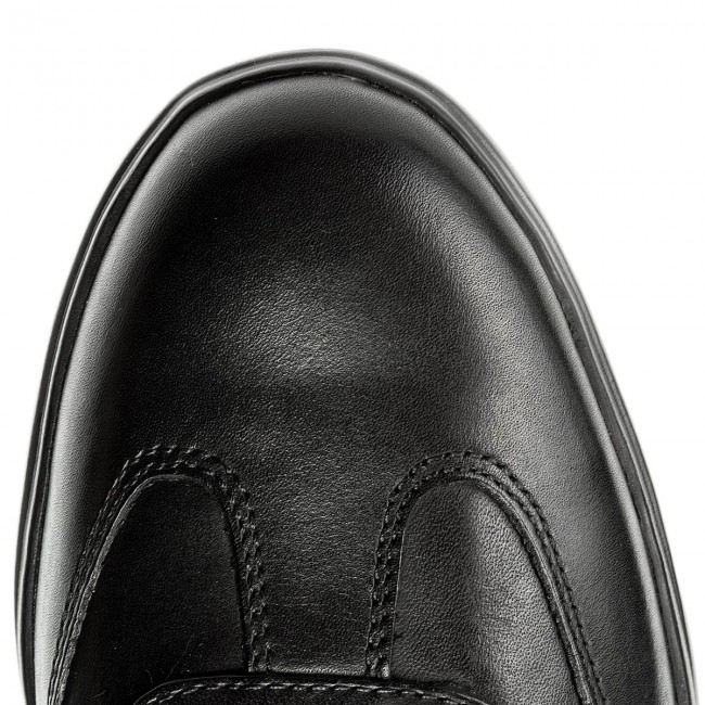 Shoes CLARKS - Vennor Vibe 261317427 Black Leather Leather Leather - Casual - Low shoes - Men's shoes aabd39
