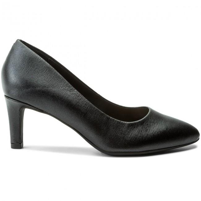 chaussures clarks - calla rose 261318574 cuir noir - talons chaussures - bas chaussures talons chaussures - femmes 720b89