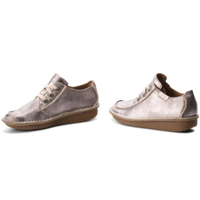 Shoes CLARKS - Funny Dream Dream Dream 261323324 Pewter Metallic - Flats - Low shoes - Women's shoes 022fdb