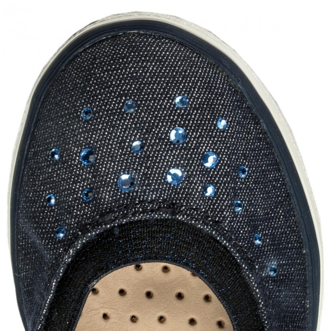 Shoes GEOX - J Kilwi G. K J82D5K 000AS 000AS 000AS C4002 S Navy - Slided shoes - Low shoes - Girl - Kids' shoes cd17a9