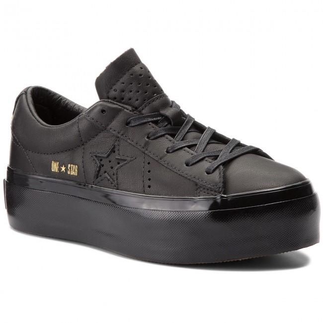 Sneakers CONVERSE - One Star Platform Sneakers Ox 559898C Black/Black/Black - Sneakers Platform - Low shoes - Women's shoes da41ec