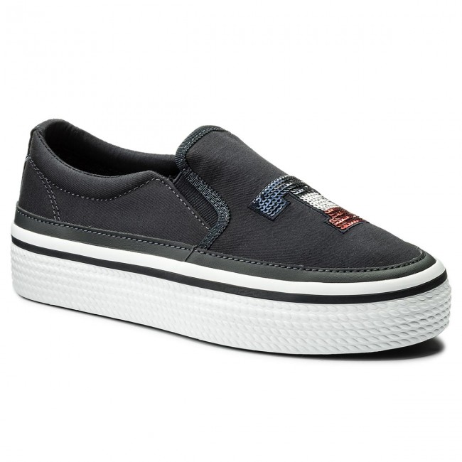 Plimsolls TOMMY HILFIGER - Tommy Sequins 403 Flatform Sneaker FW0FW02796 Midnight 403 Sequins - Sneakers - Low shoes - Women's shoes 718bab