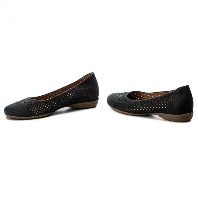Flats Low GABOR - 42.027.46 Nightblue/S.Natur - Ballerina shoes - Low Flats shoes - Women's shoes 1d0694