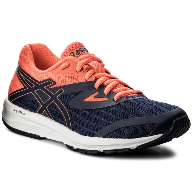 Shoes ASICS - Amplica T875N Indigo - Blue/Indigo Blue/Flash Coral 4949 - Indigo Indoor - Running shoes - Sports shoes - Women's shoes 17c4bf