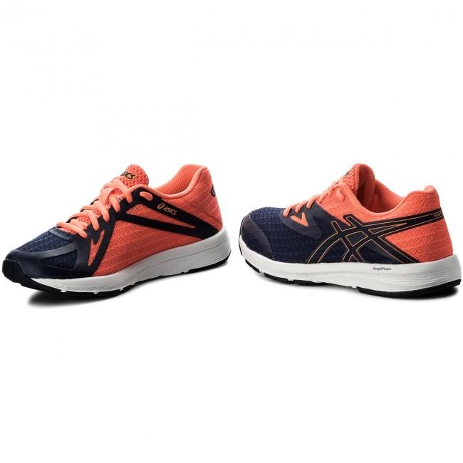 Bon rapport qualité prix < t875n chaussures asics / - amplica bleu indigo / asics bleu indigo / flash coral 4949 - indoor - tennis - chaussures de sport - chaussures de femmes. b9ffbb