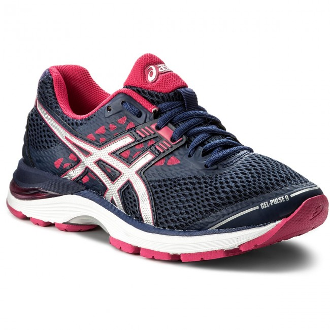 Shoes ASICS Indigo - Gel-Pulse 9 T7D8N Indigo ASICS Blue/Silver/Bright Rose 4993 - Indoor - Running shoes - Sports shoes - Women's shoes 06f740