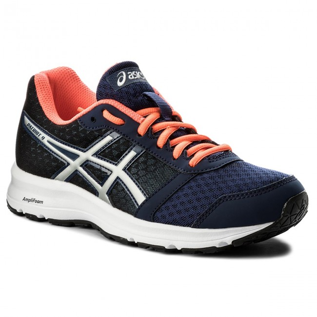 Shoes ASICS - Patriot 9 T873N Indigo Blue/Silver/Flash - Coral 4993 - Indoor - Blue/Silver/Flash Running shoes - Sports shoes - Women's shoes c4e8a3