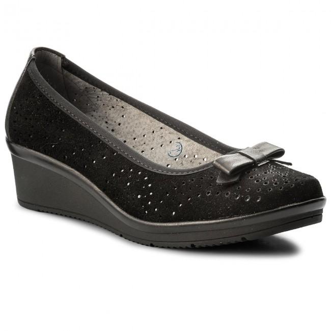 Shoes MACIEJKA - 03528-01/00-5 Czarny Welur Low - Wedge-heeled shoes - Low Welur shoes - Women's shoes 74ea9f