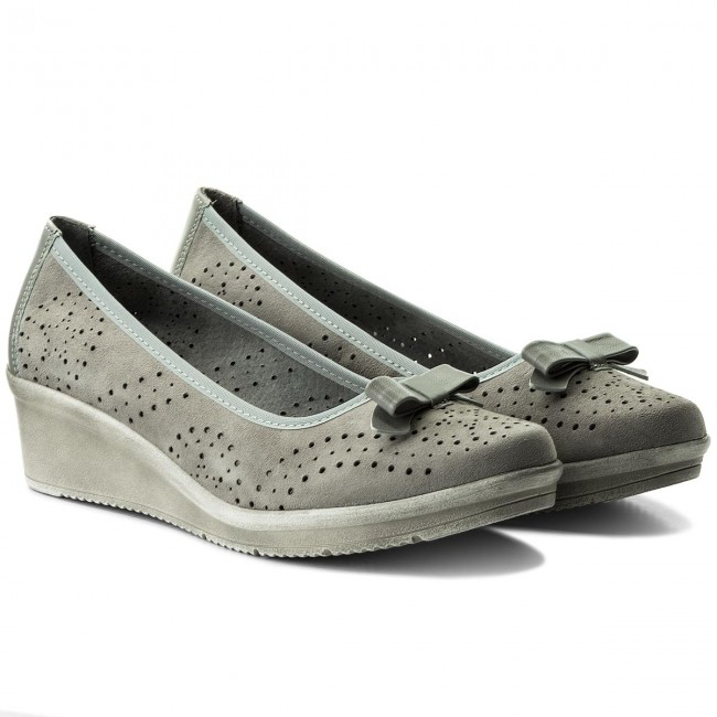 Shoes MACIEJKA - 03528-03/00-5 Szary Welur - Casual Casual Casual - Low shoes - Women's shoes 5fe673