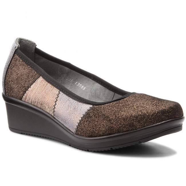 Shoes MACIEJKA - 03531-32/00-5 Miedziany - Wedge-heeled shoes Women's - Low shoes - Women's shoes shoes 344c2f