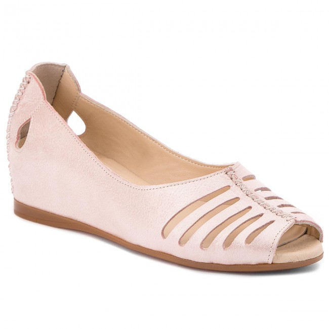 Shoes - LANQIER - 42C1252 Pink - Shoes Wedge-heeled shoes - Low shoes - Women's shoes 5d4bfa