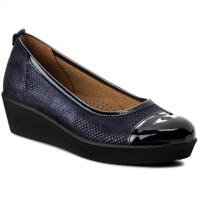 Shoes Low GABOR - 86.471.36 Nightblue - Wedge-heeled shoes - Low Shoes shoes - Women's shoes 412c57