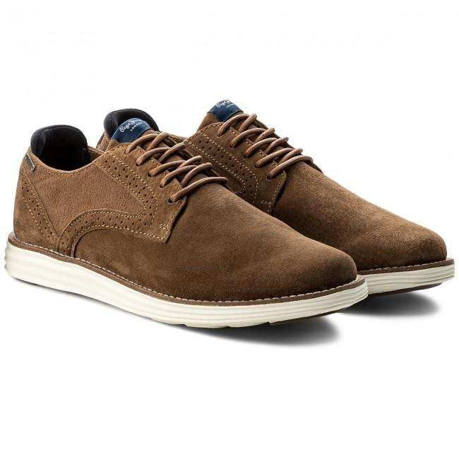 Shoes PEPE JEANS - - - Derry Suede PMS10219 Tobacco 859 - Casual - Low shoes - Men's shoes 7df1cf
